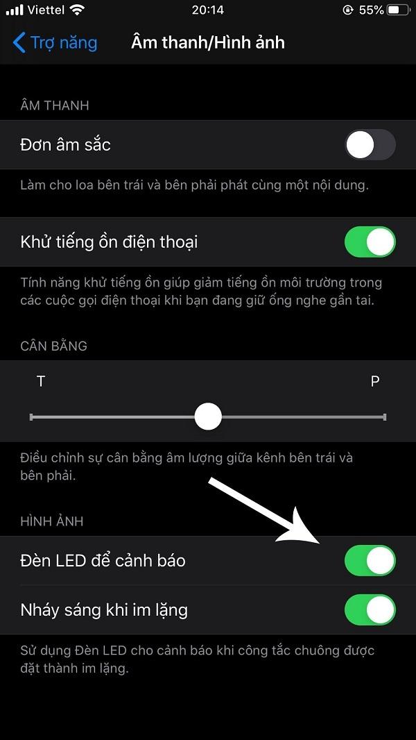 cài đặt đèn flash khi có cuộc gọi đến iphone
